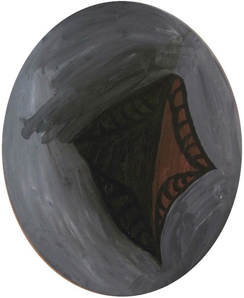 oil paint on board - oval board 30cm x 20cm