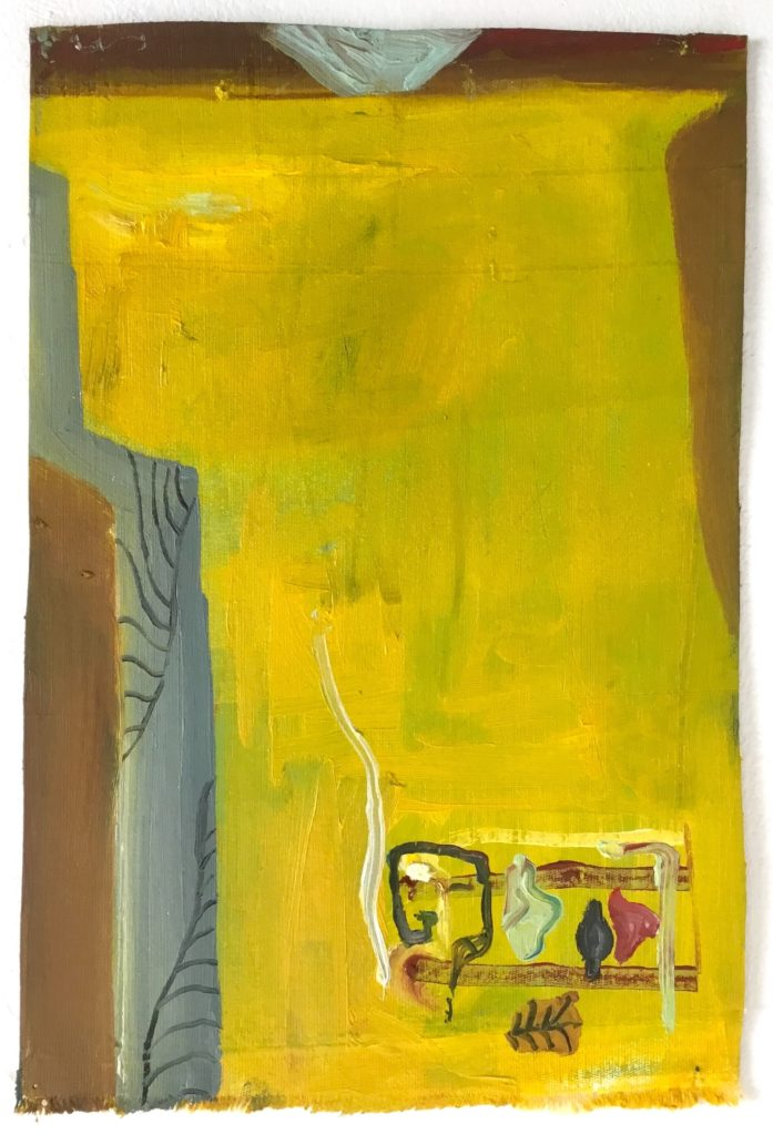 Robin Jones Yellow with Figures