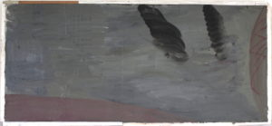 oil on card on board 55cm x 27cm